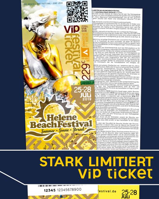 Helene Beach Festival 2019 Kombiticket VIP
