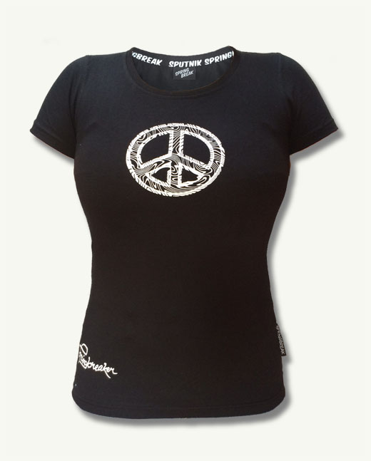 "White Peace Shirt Girl 2017 ""Schwarz"""