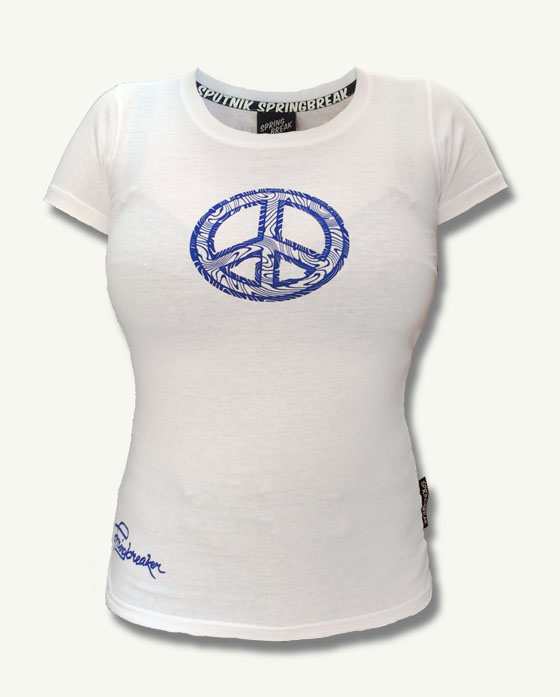 "Blue Peace Shirt Girl 2017 ""Weiß"""