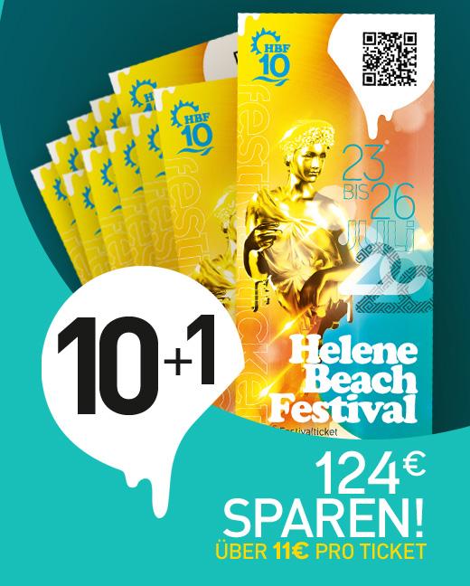 Helene Beach Festival 2020 Kombiticket 10+1