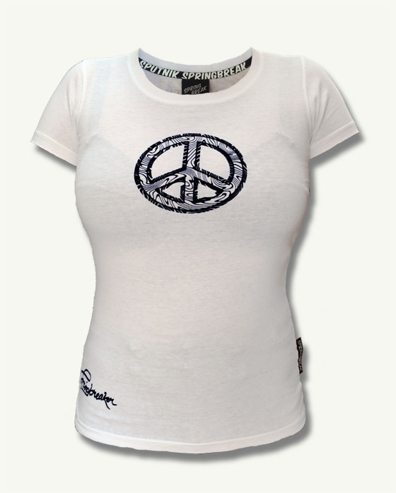 "Black Peace Shirt Girl 2017 ""Weiß"""